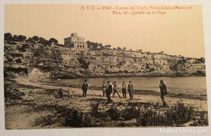 ATV - 2541. CUEVAS DEL DRACH. PORTO-CRISTO (MANACOR). NUM.18 - DETALLE DE LA PLAYA. (Postales - España - Baleares Antigua (hasta 1939))