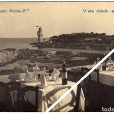 Postales: MAGNIFICA POSTAL FOTOGRAFICA - MALLORCA - RESTAURANT PORTO-PÍ - VISTA DESDE LA TERRAZA. Lote 51781670