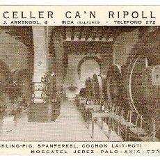 Postales: INCA (BALEARES).- CELLER CA'N RIPOLL. Lote 67477657