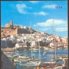 Postales: IBIZA - 281.- EMBARCADERO Y CIUDAD ANTIGUA AL FONDO.. Lote 70547753