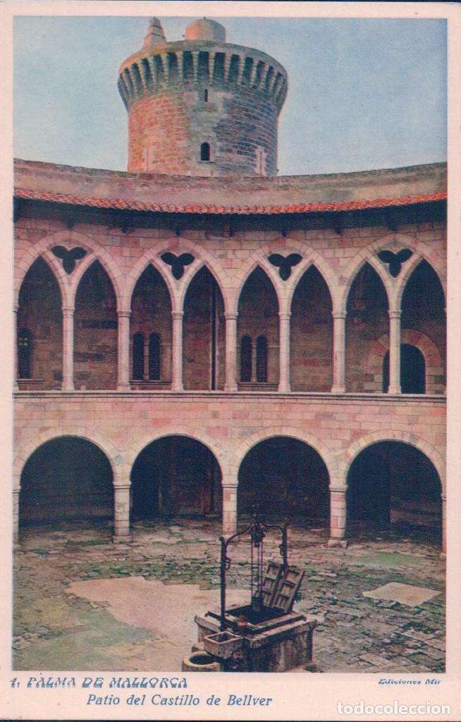 PALMA DE MALLORCA PATIO DEL CASTILLO DE BELLVER EDICIONES MIR (Postales - España - Baleares Antigua (hasta 1939))