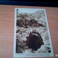 Postales: SANTUARIO DE NUESTRA SEÑORA DE LLUCH - FONT D´ES PREDEGUERET, A LA FALDA DEL -PUIG TOMIC- MALLORCA. Lote 71594115