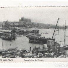 Postales: (ALB-TC-7) POSTAL PALMA DE MALLORCA PANORAMICA DEL PUERTO ESCRITA CON SELLO. Lote 76834319