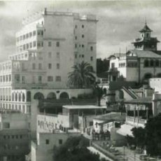 Postales: PALMA DE MALLORCA. VISTA SUPERPANORÁMICA. PASEO MARÍTIMO. PISCINA HOTEL VICTORIA. HOTEL MEDITERRÁNEO. Lote 77927461