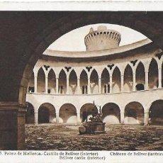 Postales: P- 6471. POSTAL PALMA DE MALLORCA, CASTILLO DE BELLVER INTERIOR. Nº15 L.ROISIN.. Lote 79133245