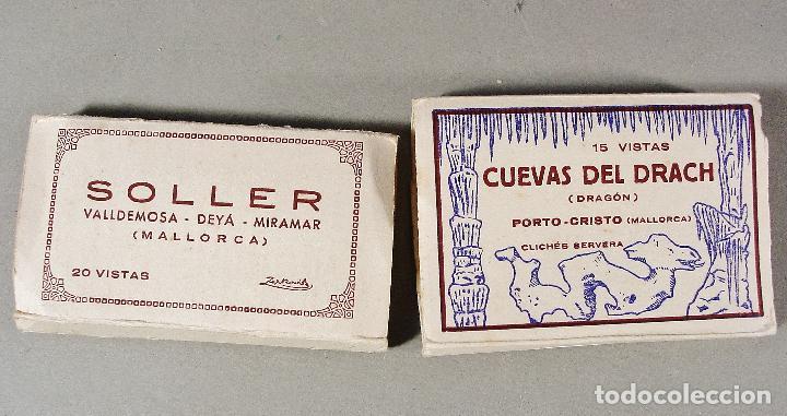2 ÁLBUMES ACORDEÓN DE SOLLER Y CUEVAS DEL DRACH. 20 Y 15 VISTAS. ZERKOWITZ. BUEN ESTADO. (Postales - España - Baleares Moderna (desde 1.940))