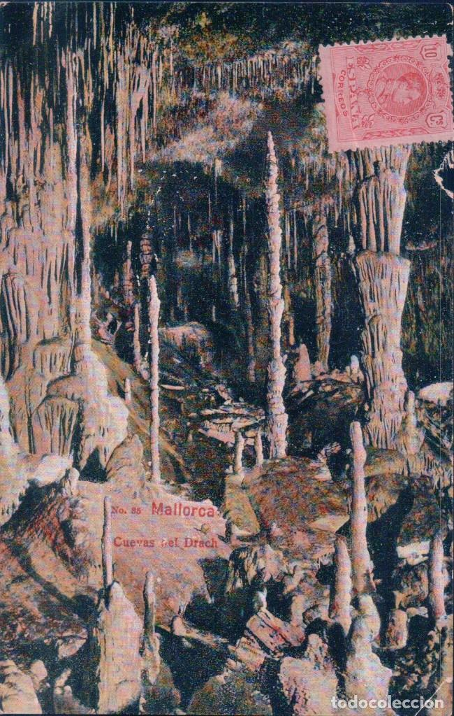 POSTAL MALLORCA - CUEVAS DEL DRACH 85 - AM - CIRCULADA (Postales - España - Baleares Antigua (hasta 1939))