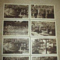 Postales: MALLORCA, CUEVAS DEL DRACH, LOTE 8 POSTALES, HUECOGRABADO RIEIUSSET, S.A., CLICHÉ SERVERA. Lote 82958816
