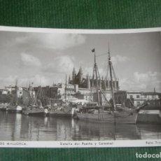 Postales: PALMA DE MALLORCA - DETALLE DEL PUERTO Y CATEDRAL - ED.TRUYOL . Lote 83717960