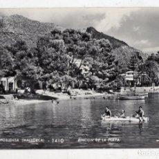 Postales: PUERTO POLLENSA (MALLORCA). RINCÓN DE LA PLAYA. FRANQUEADA EL 24 DE JULIO DE 1961.. Lote 84479060