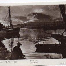Postales: PS7664 PALMA DE MALLORCA 'EL PUERTO'. FOTOGRÁFICA. GUILERA. SIN CIRCULAR. AÑOS 30. Lote 86021776