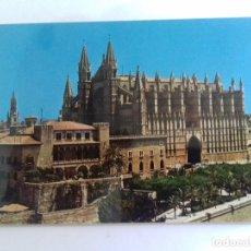 Postales: PALMA-LA CATEDRAL Y EL PALACIO DE LA ALMUDAINA-VISTA AEREA-TARJETA POSTAL. Lote 86758512