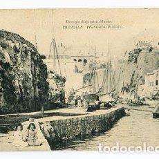 Postales: BALEARES MENORCA CIUDADELA PUERTO. ED. REMIGIO ALEJANDRE. FOTOTIPIA HAUSER Y MENET. . Lote 86956368