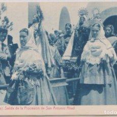 Postales: IBIZA - SALIDA DE LA PROCESION DE SAN ANTONIO ABAD. Lote 87016388