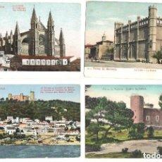 Postales: LOTE DE 4 POSTALES VARIADAS DE PALMA DE MALLORCA. Lote 87238992