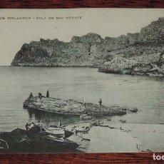 Postales: POSTAL DE PALMA MALLORCA, CALA DE SAN VICENTE, ED. J. OBRADORS, SABADELL, NO CIRCULADA, ESCRITA.. Lote 88762352