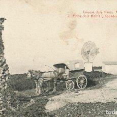 Postales: POSTAL MANACOR CUEVAS DELS AMS, ANGEL TOLDRÁ VIAZO, FINCA DELS AMS Y APEADERO DE LAS CUEVAS. Lote 90122452