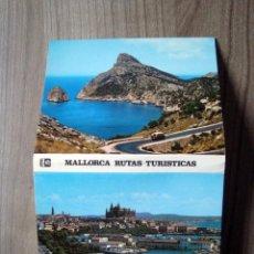 Postales: LIBRITO, ACORDEON TIRA POSTALES MALLORCA - RUTAS TURISTICAS - ISLAS BALEARES. Lote 90644615