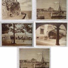 Postales: LOTE 5 FOTOS TARJETAS MALLORCA-HOTEL REINA VICTORIA-CUEVAS ARTA- PALACIO OLEZA- CATEDRAL LONJA-1930. Lote 91960370