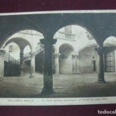 Postales: POSTAL MALLORCA. SERIE IV. - 9. PATIO BARROCO MALLORQUIN. 1ª MITAD DEL SIGLO XVIII. . Lote 92691955