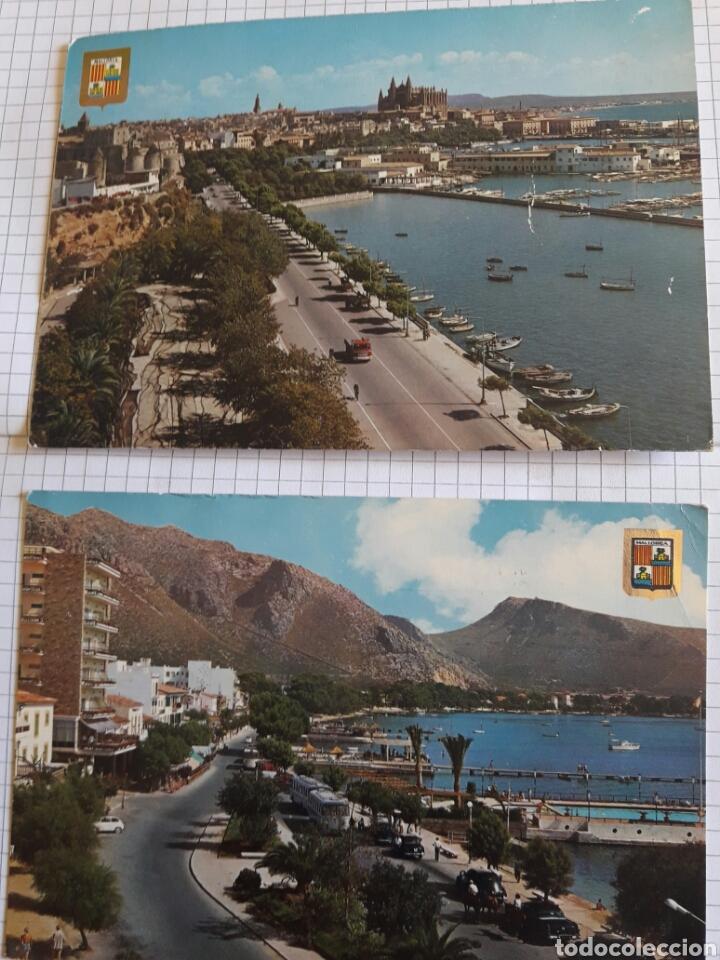 LOTE 2 POSTALES CIRCULADAS MALLORCA AÑOS 60 (Postales - España - Baleares Moderna (desde 1.940))