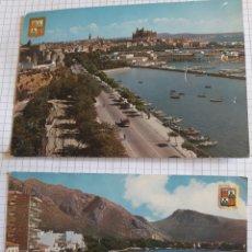 Postales: LOTE 2 POSTALES CIRCULADAS MALLORCA AÑOS 60. Lote 94377595
