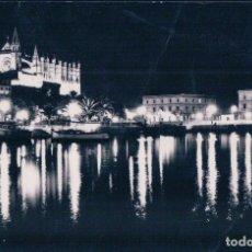Postales: POSTAL PALMA DE MALLORCA - 2401 LA CATEDRAL DE NOCHE - CASA PLANAS - ESCRITA. Lote 94674279