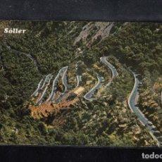 Postales: MALLORCA. SOLLER. CARRETERA DEL COLL. VISTA AÉREA. Lote 94900515