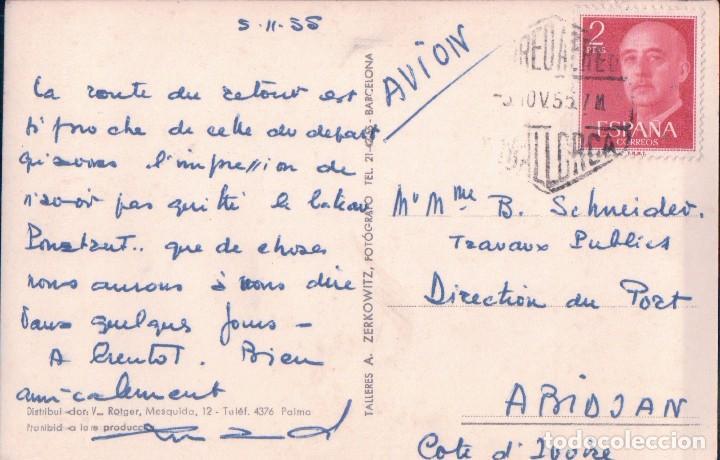 Postales: POSTAL MALLORCA. PALMA DE MALLORCA 536. MOLINO JACK EL NEGRO - ZERKOWITZ - CIRCULADA - Foto 2 - 94935543
