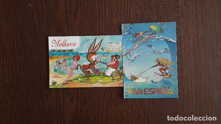 LOTE DE 2 POSTALES DE DIBUJOS DE MALLORCA (Postales - España - Baleares Moderna (desde 1.940))