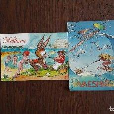 Postales: LOTE DE 2 POSTALES DE DIBUJOS DE MALLORCA. Lote 276078923