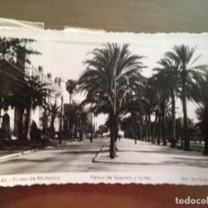 Postales: POSTAL PALMA DE MALLORCA PASEO DE SAGRERA Y LONJA EDICIONES ARRIBAS. Lote 95927555