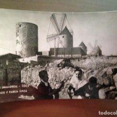 Postales: POSTAL PALMA MALLORCA MOLINOS Y PAREJA TIPICA. Lote 95927587