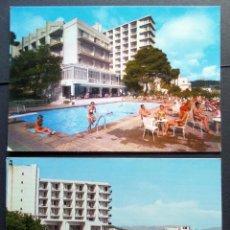 Postales: 2 POSTALES SIN CIRCULAR DEL HOTEL HORIZONTE, PALMA DE MALLORCA, . Lote 95932675