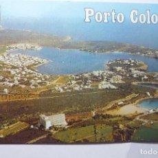 Postales: POTAL PORTO COLOM -MALLORCA AEREA. Lote 95933991
