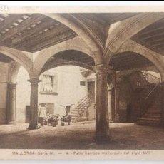Postales: ANTIGUA POSTAL MALLORCA, SERIE IV, PATIO BARROCO MALLORQUÍN DEL SIGLO XVII. Lote 96423915