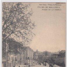 Postales: PALMA DE MALLORCA - PASEO DE LAS RAMBLAS. Lote 96686571