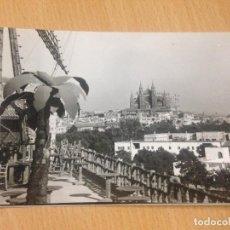 Postales: ANTIGUA POSTAL CATEDRAL MOLINOS PALMA DE MALLORCA BALEARES. Lote 97318991