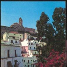Postales: IBIZA .- BALEARES.- CIUDAD ALTA Y CATEDRAL. Lote 97910719