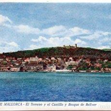 Postales: PALMA DE MALLORCA, EL TERRENO,EL CASTILLO Y BOSQUE. DE BELLVER .SIN CIRCULAR .Nº27.ED.MIR. **. MNH. Lote 97910795