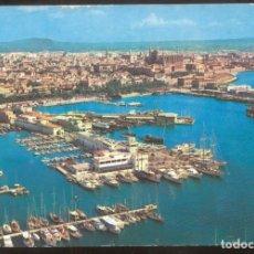 Postales: PALMA.- VISTA PARCIAL DEL PUERTO. EN PRIMER TERMINO, EL CLUB NAUTICO. Lote 98122039