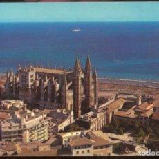 Postales: PALMA .- LA CATEDRAL (SIGLO XIII). VISTA AEREA. Lote 98122387