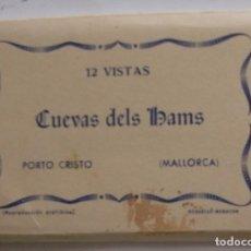 Postales: CARNET CON 10 VISTAS DE LAS CUEVAS DELS HAMS, PORTO CRISTO, MALLORCA. Lote 98130299