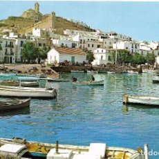 Postales: ** A650 - POSTAL - IBIZA - DETALLE DEL PUERTO Y CATEDRAL. Lote 98655387