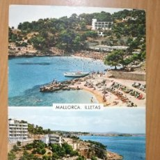 Postales: PALMA DE MALLORCA, PLAYA DE LES ILLETES. ED. GARRABELA. CIRCULADA CON SELLO. Lote 98705331