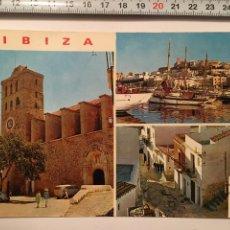 Postales: POSTAL. 275. IBIZA (BALEARES). DETALLES DE LA CIUDAD. CASA FIGUERETAS. H. 1960. Lote 99767279