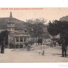 Postales: SOLLER (MALLORCA).- VISTA GENERAL DE LA ESTACION DEL FERROCARRIL. Lote 99825427