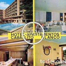 Postales: CANYAMEL MALLORCA HOTEL APARTAMENTOS CABALLITO BLANCO SIN CIRCULAR (FLOR DE ALMENDRO) AÑO 1972. Lote 99848807