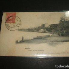 Postales: MAHON MENORCA PASEO DE LA ALAMEDA FOT. DE M. HERNANDEZ . REMIGIO ALEJANDRE MAHON . Lote 99903487