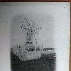 Postales: MAHON (MENORCA) MOULIN A VENT. BUQUE ESCUELA FRANCES DUGUAY TROUIN. AÑO 1903. Lote 100537323